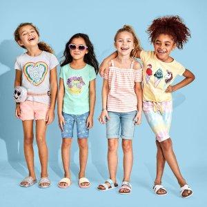 半身裙裤$1.99 包邮折扣升级:Children's Place童装官网 全部2-3折清仓区热卖