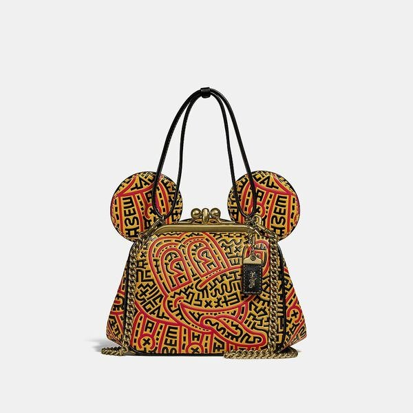 米老鼠 X Keith Haring 复古纽扣包