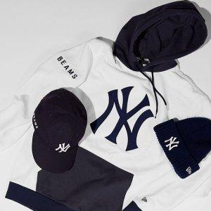 5.1折起+额外8折New Era 洋基队NY棒球帽€17起收 logoT恤仅€12起