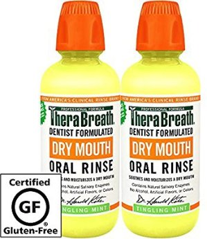 $11.60TheraBreath 专业牙医推荐抗菌漱口液温和薄荷味, 16盎司/475ml(2瓶)