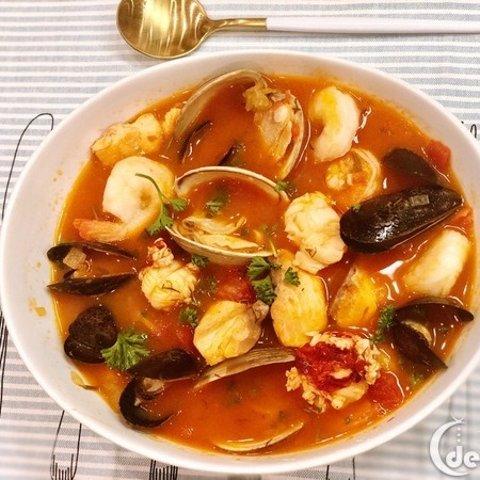 Western Restaurant RecipeItalian Seafood Soup Cioppiono