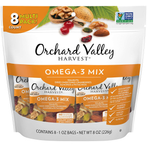 $5.98ORCHARD VALLEY HARVEST Omega-3 Mix, 8 oz , Non-GMO, No Artificial Ingredients