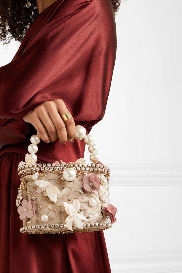 Holli Fresia 珍珠花卉鸟笼包