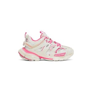 BalenciagaPink & White Track 老爹鞋