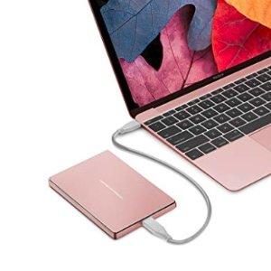 降至史低¥499LaCie 保时捷设计 便携式2TB移动硬盘 玫瑰金