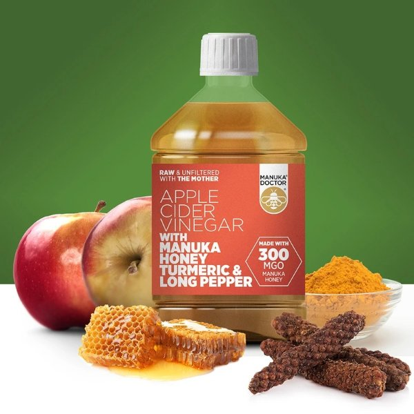 麦卢卡蜂蜜姜黄生姜苹果醋