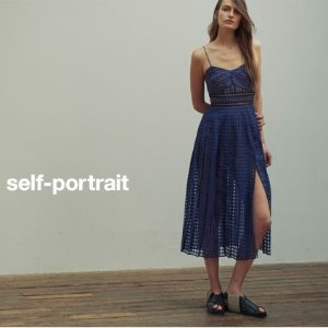 5折起+额外75折 £173收蕾丝裙Self-Portrait 仙女裙折扣进行时 夏日穿正合适 出去你最亮眼