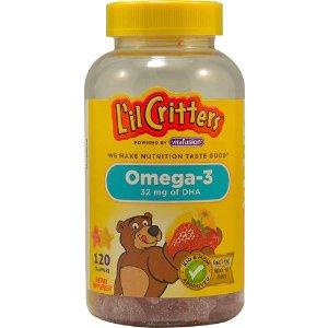 L'il CrittersOmega-3 Assorted Fruit -- 120 Gummies