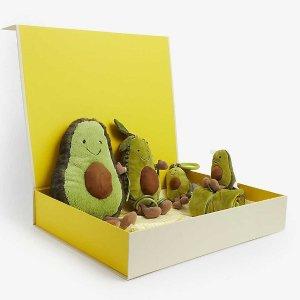 封面牛油果4只£80入Jellycat 超萌圣诞礼盒上线 牛油果、小猴子、小鲸鱼都有!