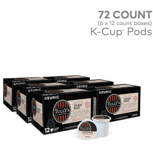 $26.52Tully's Coffee K-cup 胶囊咖啡 法式炭烧/意式炭烧 72个装