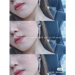 Jess 水晶不对称耳环