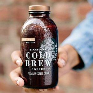 冷萃咖啡6瓶仅售$17星巴克饮料咖啡饮品及气泡饮料热卖
