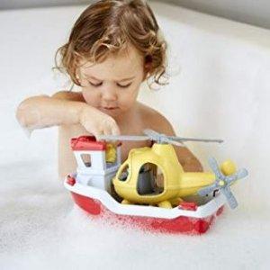 $17.28(原价$48.69)Green Toys 救援船和直升飞机玩具