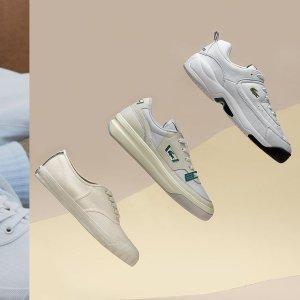 折上折 低至1折Lacoste 法国鳄鱼潮流百搭sneaker 折扣好价收小白鞋