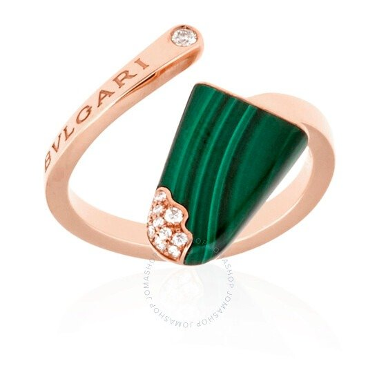 Gelati 18 Kt祖母绿玫瑰金戒指