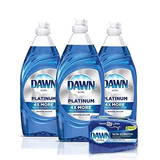 洗洁精3瓶+无痕洗碗海绵2只