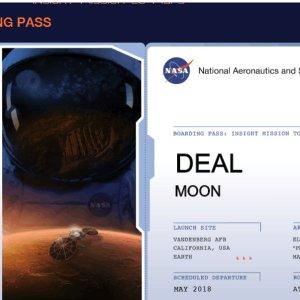 免费领登机牌让我们一起 飞向火星