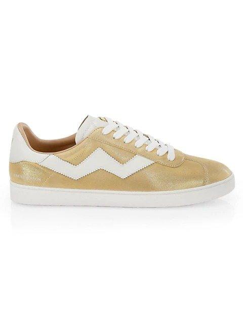 金属色运动鞋