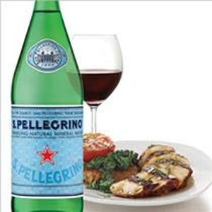$13.84 高级餐厅的选择San Pellegrino 意大利天然气泡矿泉水 1升 12瓶