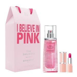 6.2折+送3个小样Givenchy 纪梵希 粉红魅力香水套装热卖 含粉色小羊皮唇膏