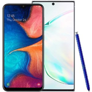 $1099.99Samsung Galaxy Note 10+ Plus Factory Unlocked Phone with 256GB (U.S. Warranty), Aura Silver w/Free Samsung Galaxy A20