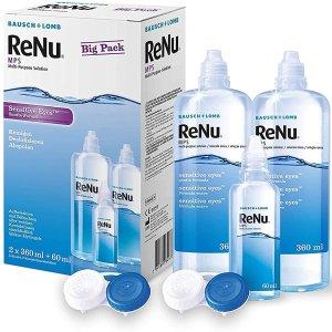 折后仅€17 赠送小瓶旅行装博士伦 ReNu 隐形眼镜清洁护理液 让眼睛BlingBling