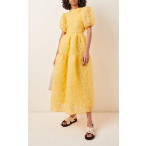 Kelly Tiered Silk-Blend Midi Dress