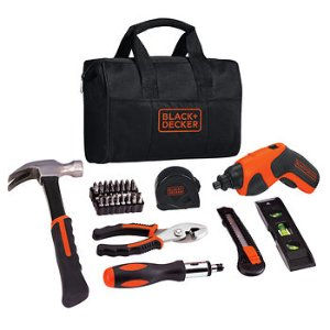 Black & Decker 41-Pc. 4V Max Lithium Screwdriver Project Kit