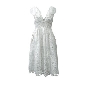 ebe110b4ca5c Self-Portrait Wave Guipure Frill Mini Dress · Self-PortraitTie Shoulder  Midi Dress