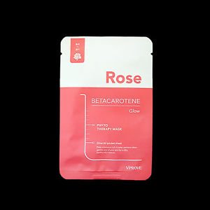 VPROVE Phyto Therapy Mask Sheet Rose Betacarotene Glow Face Mask Sheet Skincare  | eBay