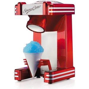 $39.96(原价$51.99)史低价:Nostalgia 复古红色刨冰机 绵绵冰沙自制美味