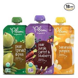 Save 25% + Extra 5% Off + FSAmazon Plum Organic Baby Food