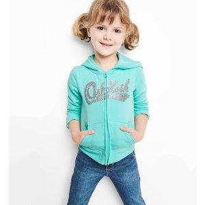 Oshkosh女童、大童logo卫衣
