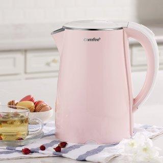 $25COMFEE' 粉色1.7升快速电热水壶