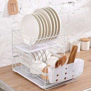 6折起 低至€10.99可收Amazon 餐具沥水架 超大容量、易清洁 让厨房更加整洁美观