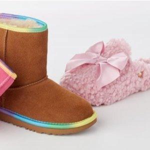 低至$21.97 包邮门款降至$49UGG Kids 精美儿童雪地靴、童鞋特价热卖