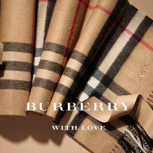 5折+免邮免税Burberry 加拿大官网季中大促 $260收羊毛围巾