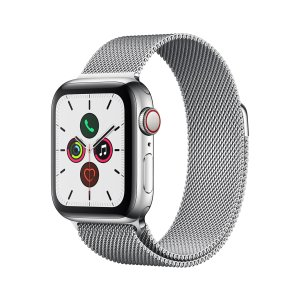 AppleWatch Series 5 (GPS + Cellular), 40mm Stainless Steel Case w/ Stainless Steel Milanese Loop