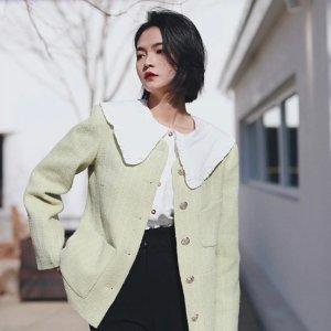 全场75折 €110收封面同款衬衫Ganni 丹麦小众品牌 白菜价收爆款 版型巨好 减龄风盛行