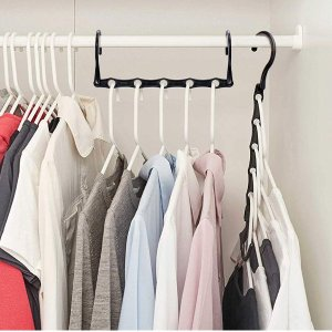HOUSE DAY Black Magic Hangers Space Saving Clothes Hangers Organizer