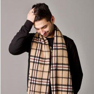 低至3折 仅£25收格纹围巾爱丁堡100%羊绒围巾 气质格纹 平替BBR 推荐伴手礼
