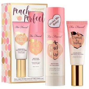 $42(价值$66)上新:Too Faced 桃子隔离+定妆喷雾套装热卖 打造精致底妆