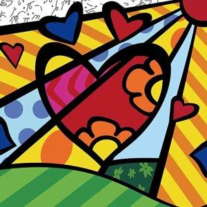 """5折 $5.54收史低价:Colour Talk 儿童数字油画套装,彩色的心 8""""X 8"""""""