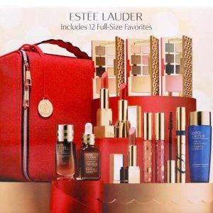 ¥999收年度最佳大礼包Estee Lauder 节日限量12件正装 超值礼盒套装