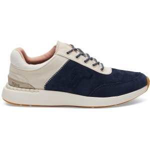TomsNavy Suede and Canvas Women's Arroyo Sneakers