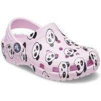 儿童熊猫图案洞洞鞋