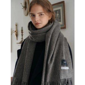 DEPOUNDCashmere Wool blended Muffler Grey