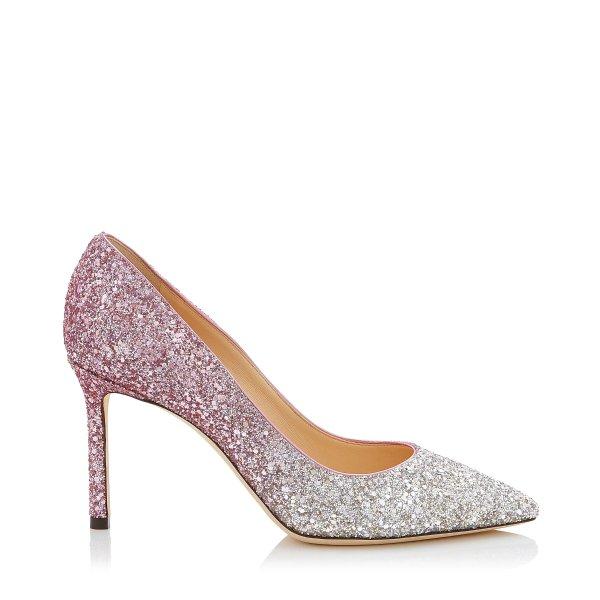 ROMY 85 粉色渐变高跟鞋