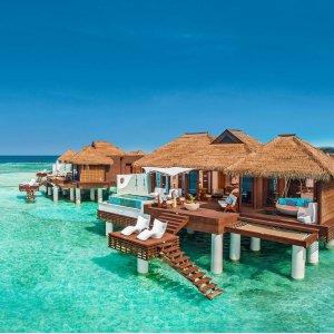 3.5折起+赠1晚+送消费券Sandals Resorts 5星度假村闰年大促,6岛15个酒店,4重折扣