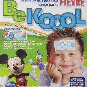 $5.03(沃尔玛同款$10.99)BeKoool 儿童物理退热贴/冰宝贴 4贴装 缓解宝宝发烫不适